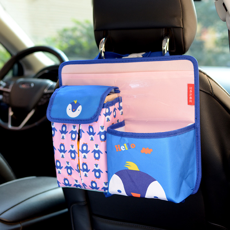 OHANEE Cartoon Car Seat Back Organizer With Cup Holder For Kids Women Girl Children Cute Lovely Accessories In Stowing Tidying From Automobiles