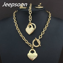 High Quality Fashion Jewelry Stainless Steel Chain Lock & Key Necklace & Bracelet Set For Woman SGEGCFDA