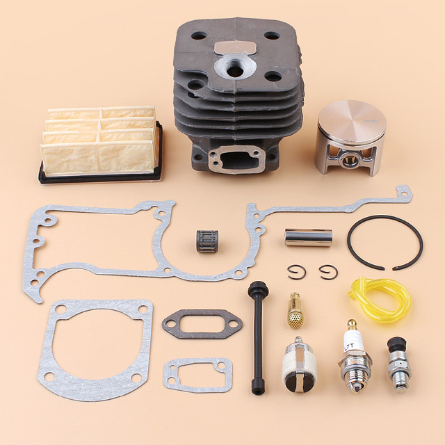 52MM NIKASIL Cylinder Piston Air Filter Gaskets Kit For HUSQVARNA 268 272 272XP 272K Chainsaw Parts with Decompression Valve