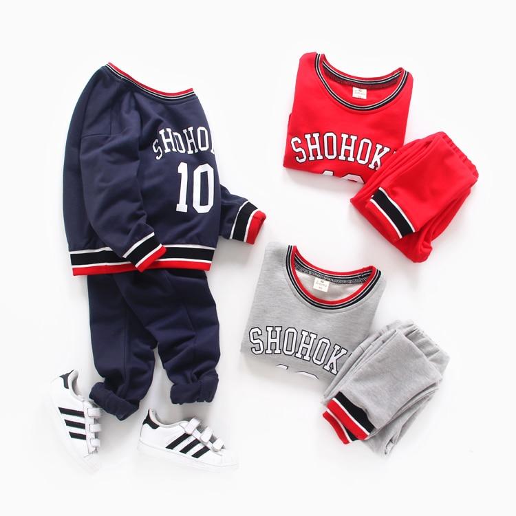 ФОТО Male casual child set spring 2017 baby sweatshirt trousers twinset small child sportswear