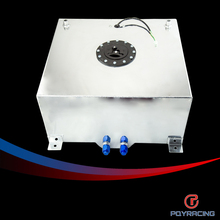 PQY RACING-60L Aluminium Fuel Surge tank with sensor  Fuel cell 60L with Cap/ foam inside PQY-TK41