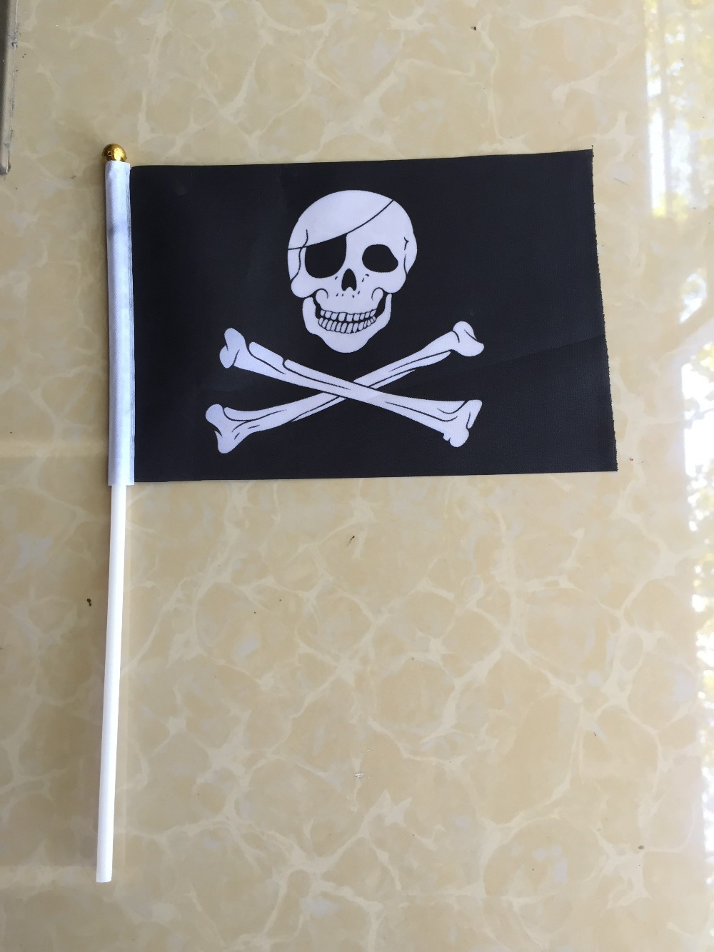 10pcs/lot 14 * 21 cm small pirate flag hand wave flags