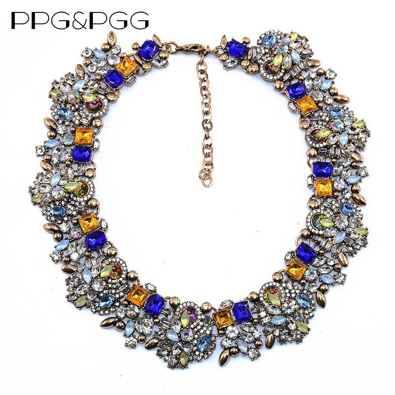 PPG & PGG сәнді маркасы Bijoux Rhinestone Choker Collar - Сәндік зергерлік бұйымдар - фото 4
