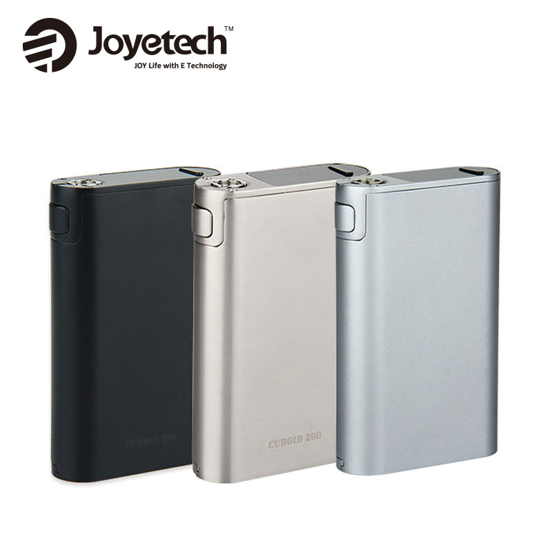 Original 200w Joyetech Cuboid 200w TC Box MOD without 18650 battery Cuboid 200W Mod VW/VT/Bypass/TCR/Logo vs istick pico mod