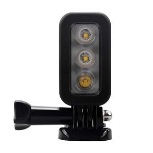 Image 3 - JINSERTA 30M Waterproof LED Flash Fill Light Spot Lamp for SJCAM Xiaomi Yi GoPro HERO5 HERO4 Session SJ4000 Camera Accessories