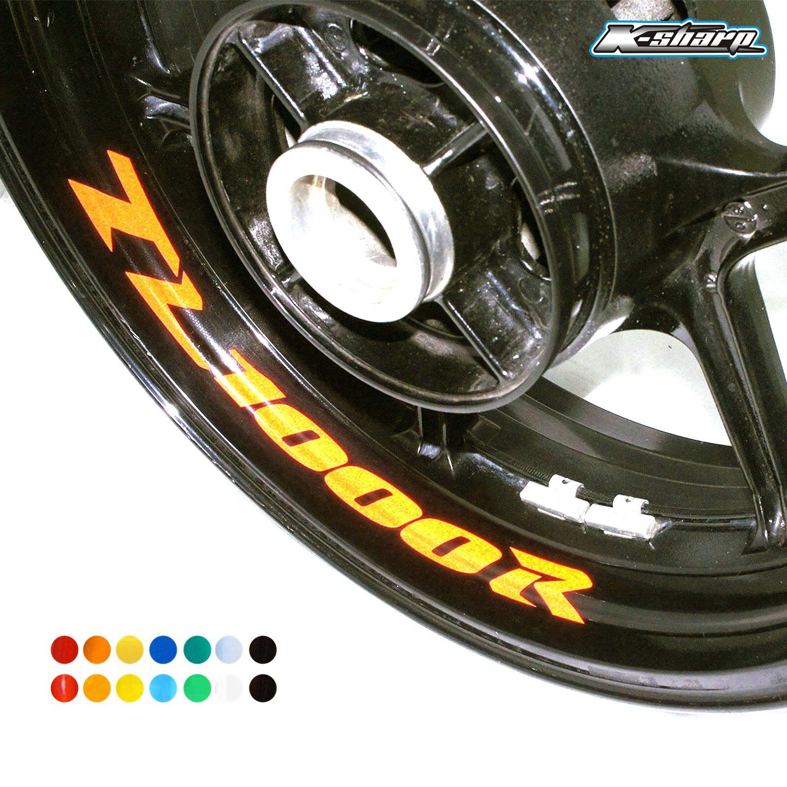 8 X Custon Inner Rim Decals Wheel Reflective Stickers Stripes FIT SUZUKI TL1000R