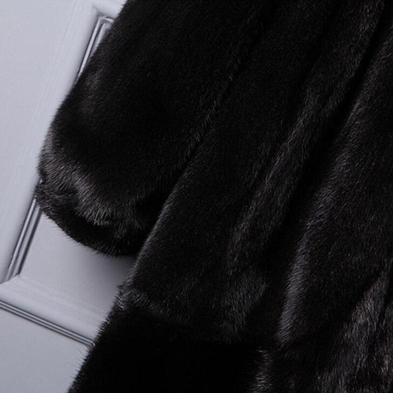 In Donne Delle Faux Pelliccia Di Giacche Cappotto Con Nero Alta Caldo 5xl Msaiss Coat A S Qualità Visone Cappuccio Fur Maniche Inverno Il Lunghe Signore q4wAn1tF