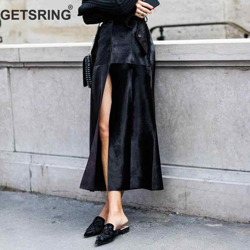 GETSRING Women Skirts Temperament Woman Long Skirt High Waist Irregular  Skirt All Match Long Skirts For d9da050b6ce1
