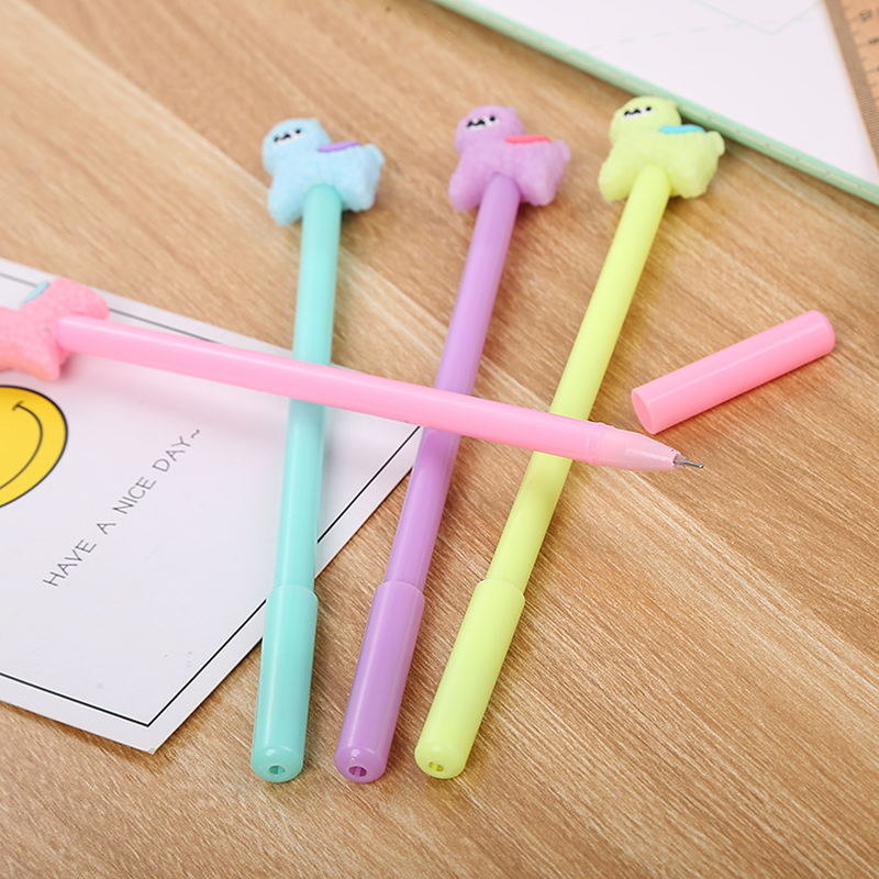 100 Pcs Creative Stationery Alpaca Neutral Pen Cute Study Office Signature Pen Cartoon Animal Student Pen