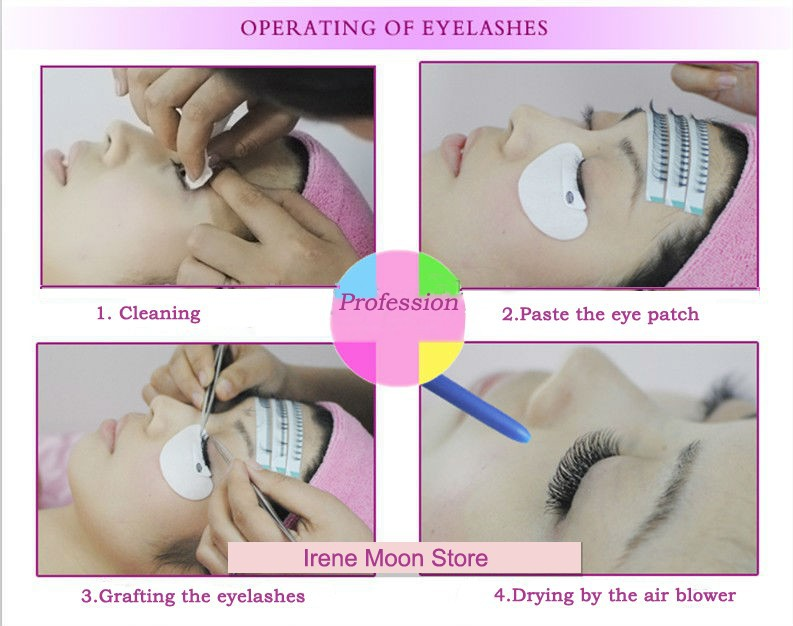 operating of eyelashes