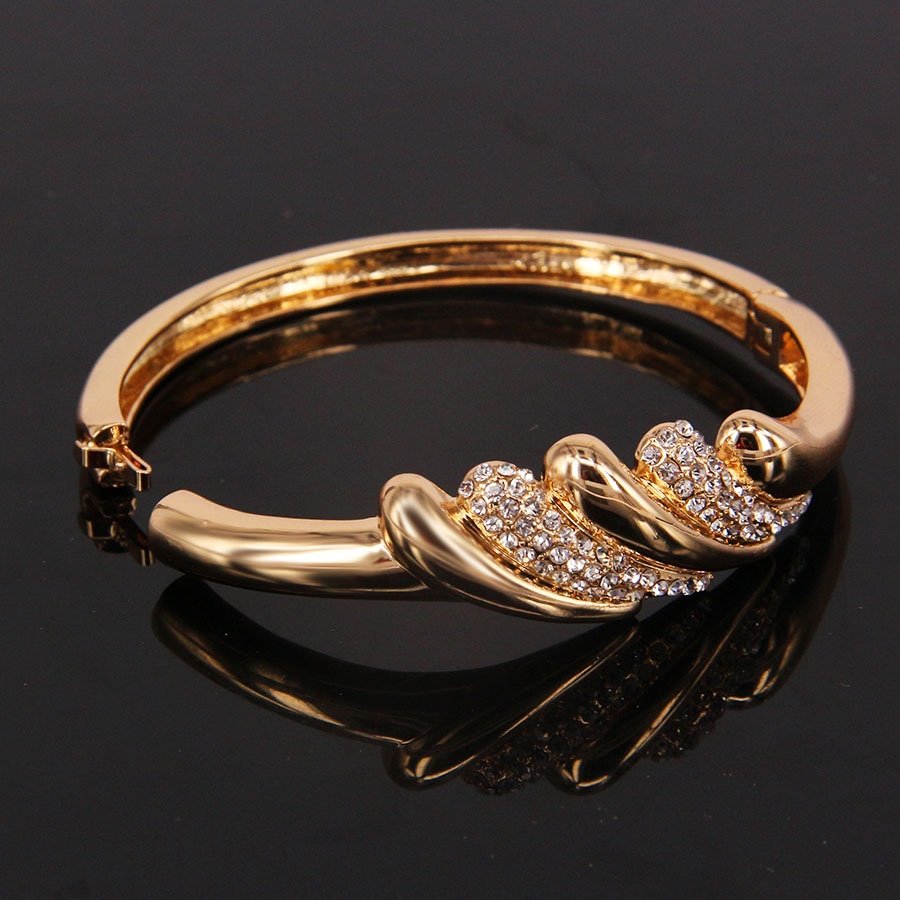 gold color jewelry bangle for women girl wholesale fashion trendy ...