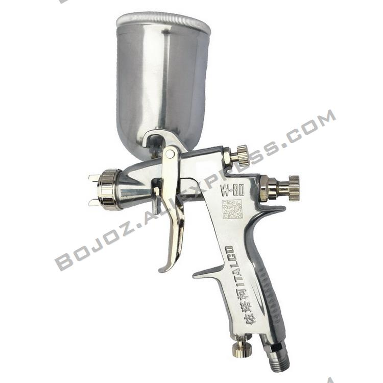 Repair mini pistol W 80 Gravity feed spray gun with 300 ml tank noz 1 0mm