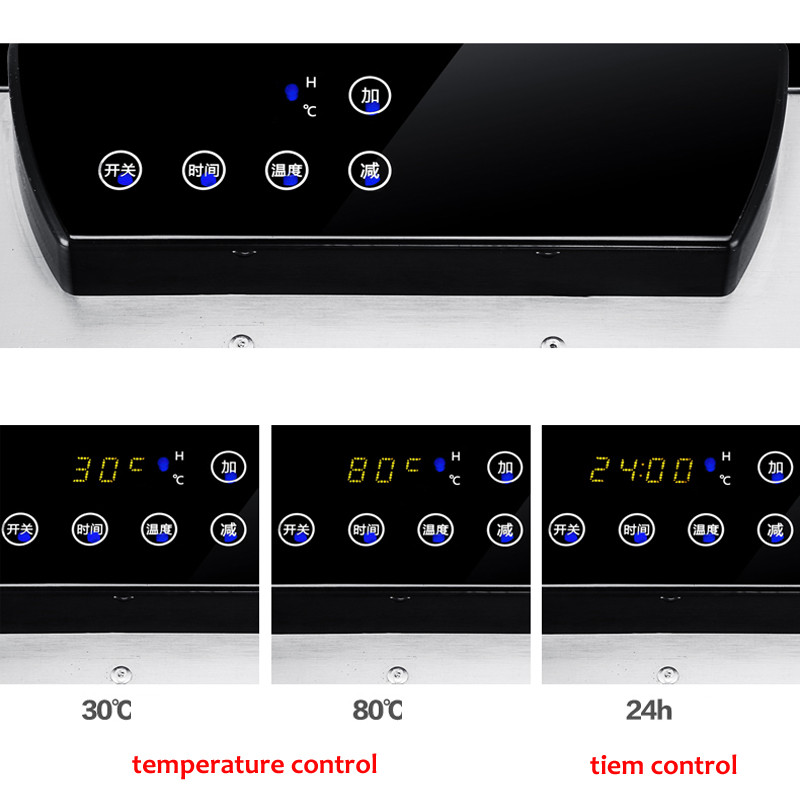 Temperature time control Stainless Steel fruit dehydrator machine dryer for fruits and vegetables food processor drying fish (2)