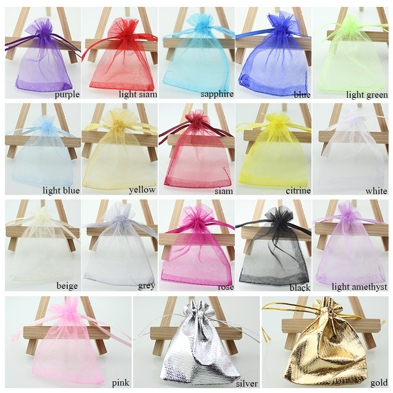 100pcslot 79 Organza Bag Christmas Wedding Gift Bag 16 Colors