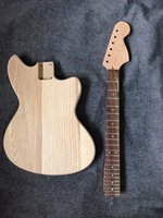 Factory sell ASH body Jaguar guitar kits /unfinished guitar no including parts bighead headstock