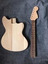 цена Factory sell ASH body Jaguar guitar kits /unfinished guitar no including parts bighead headstock онлайн в 2017 году
