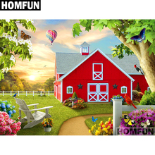 HOMFUN Full Square/Round Drill 5D DIY Diamond Painting Garden & house Embroidery Cross Stitch 5D Home Decor Gift A01699 homfun full square round drill 5d diy diamond painting garden
