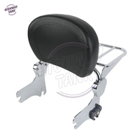 Chrome Motorcycle Detachable Backrest Sissy Bar W/ Luggage Rack Case for Harley HD Touring Models 1994 2008