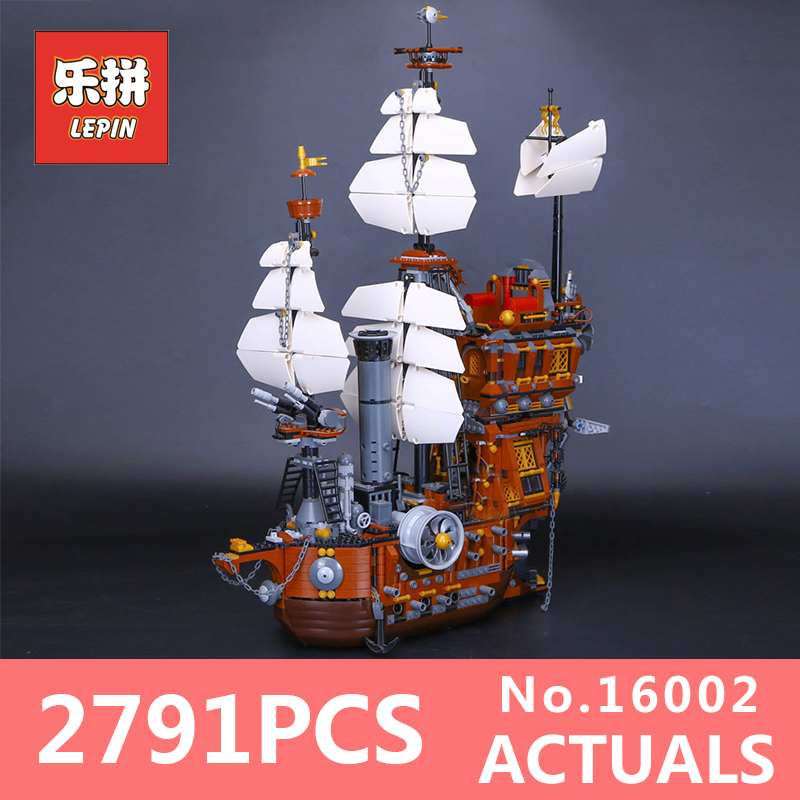 LEPIN 16002 2791Pcs Modular Pirate Ship Metal Beard's Sea Cow Building Block Bricks Set Toys LegoINGlys 70810 for Children gifts lepin 22001 pirate ship imperial warships model building block briks toys gift 1717pcs compatible legoed 10210