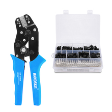 SN 01BM XH2.54 SM Plug Spring Clamp Crimping Tool Crimping Pliers AWG28 20 With 520/1500pc Dupont 2.54mm Pin Terminal Connectors
