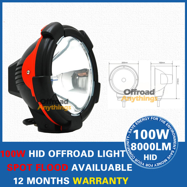 8 Pcs 9Inch HID Work Light High Power 75W 12V24V Car HID Driving Light 6000LM HID Fog Offroad Light Offroad Vehicle ATV