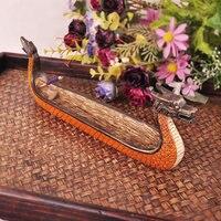 TNUKK Southeast Asia dragon boat incense board crafts incense box censer incense burner plate tray pallet sticks.