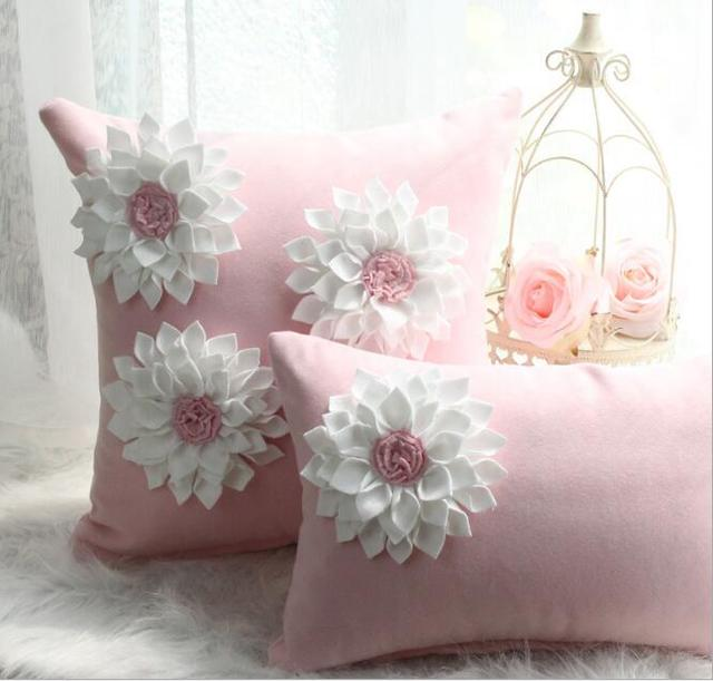 Aliexpress buy pink new korea handmade solid flower cushion pink new korea handmade solid flower cushion cushion cover covers creative beauty sofa bed car home mightylinksfo