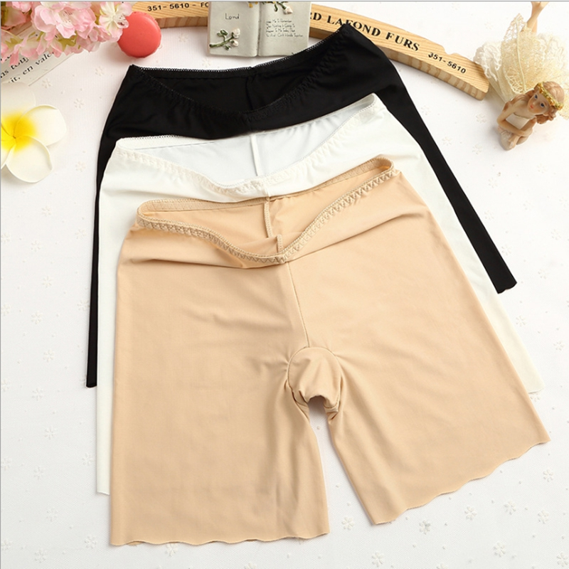 Seamless Safety Short Pants Shorts Under Skirt Plus Size Anti Chafing Cotton Women Tight Shorts Modal Ice Silk Soft Safety Pants