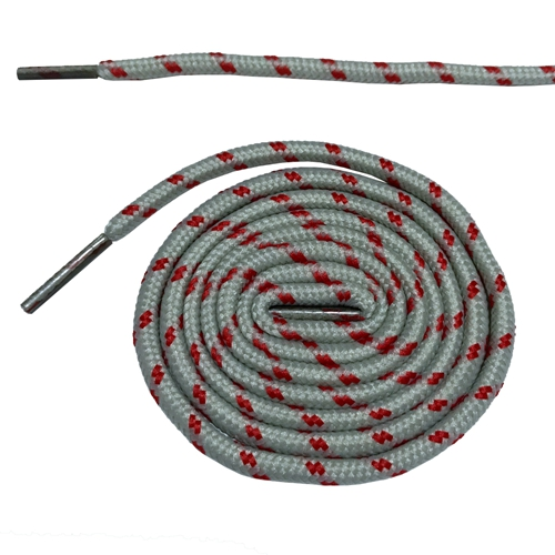 Круглые ботильоны без шнурков шнурки с точками 10 цветов 180 см/70,5 дюйма - Цвет: light gray and red