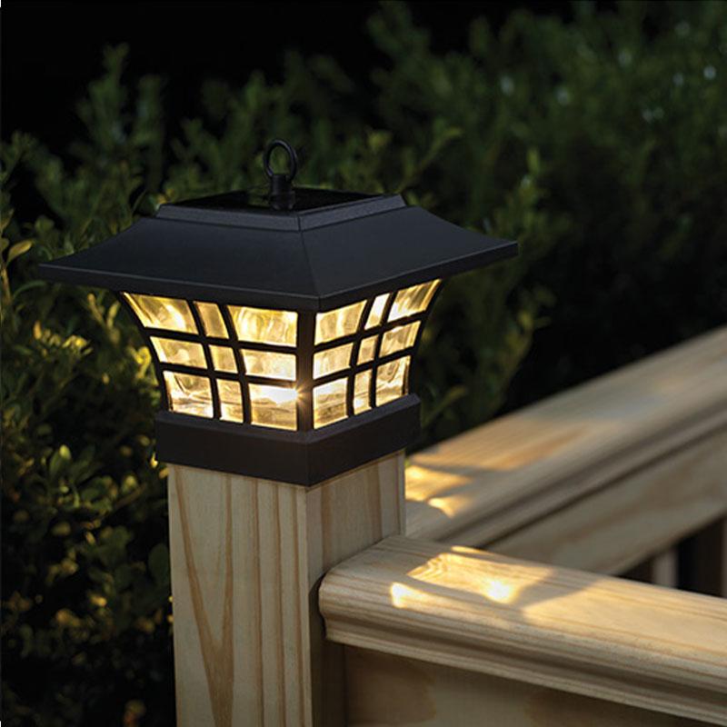 transctego solar light for garden waterproof led solar lamp outdoor landscape courtyard lights household fence post - Solar Lamp Post