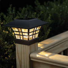 cheap TRANSCTEGO Solar Light For Garden Waterproof LED Solar Lamp Outdoor Landscape Courtyard Lights Household Fence Post Pillar Lamps,image LED lamps offers