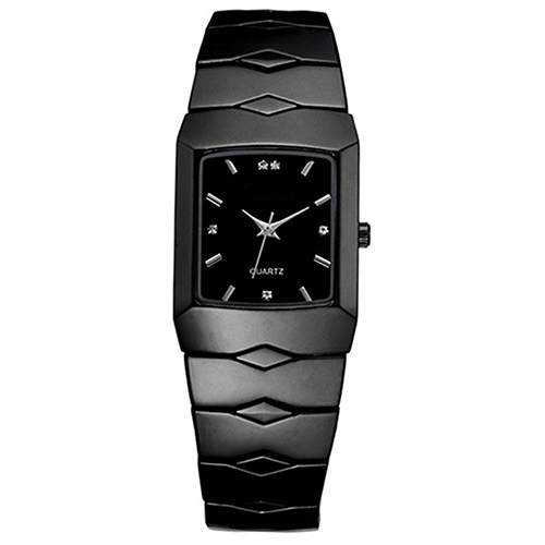 Hot Sales Full Stainless Steel Black Luxury Classic Couple Watches Quartz Wrist Watch New Design 5D7D 6UFT in Lover 39 s Watches from Watches