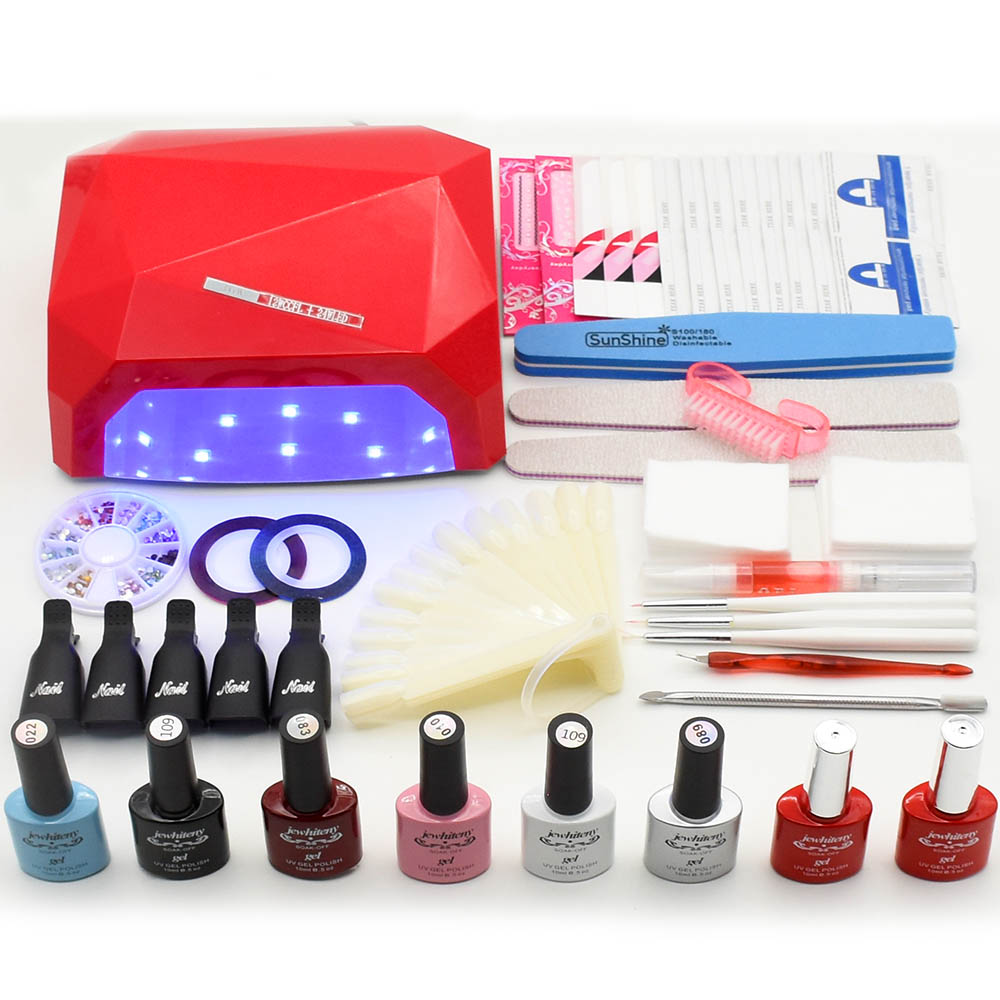 36W UV LED Lamp Dryer nail set nail gel polish manicure Sets UV gel nail polish kits nail art kit set Lamp manicure tools