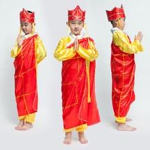 Shinning de China Viaje Al Oeste Haloween Niños Cosplay Traje de Monje Tang Hombres Túnica Monje Budista Chino Famosa Marca 18