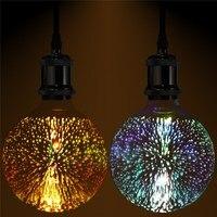 Retro Edison Bulb 3D Fireworks Ball Light 4W E27 G125 LED Light Home Bar Decor Lighting