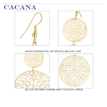 Classic Popular Dangle Hollow Round Earrings