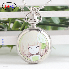 Elegant classic girl – flower girl flip Mini trumpet quartz pocket watch girls watch children's gifts XS007
