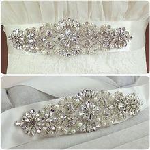 Рекомендую! краткое Блестящий CZ Diamond жемчуга свадебные пояса/свадебный пояс/торжественное платье ремень 912