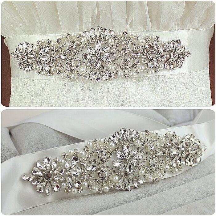 Рекомендую! Короткий бриллиантовый CZ бриллиантовый жемчуг, украшенный свадебным поясом / свадебным поясом / вечерним вечерним платьем 912