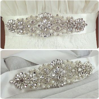 Recommend brief brilliant cz diamond pearl decorated wedding belt bridal belt formal dress belt 912.jpg 350x350