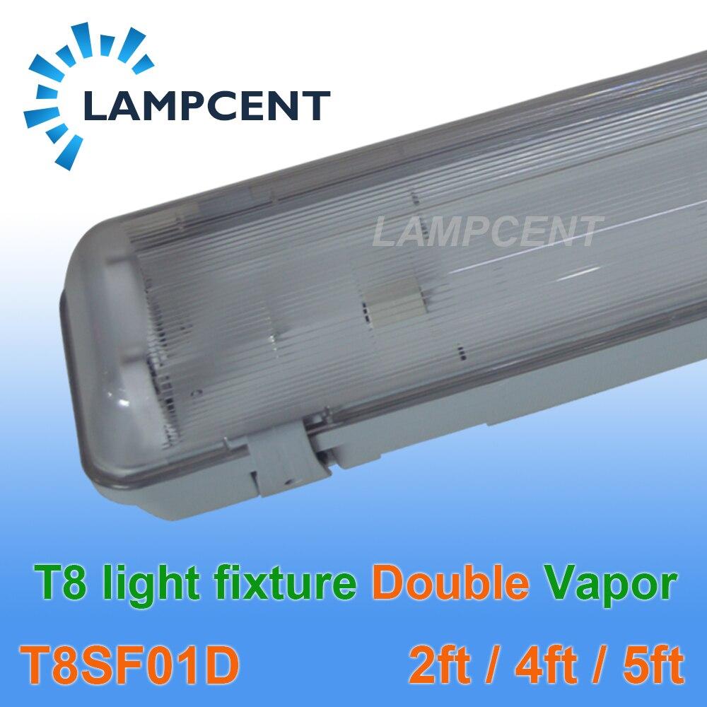 Double 2ft 4ft 5ft raccord étanche à la vapeur T8 LED Tube vide luminaire 2-50 Pack