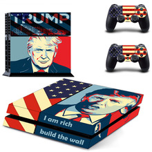 Donald Trump PS4 Skin Sticker Decal Vinyl For Sony PS4 PlayStation 4 Console and 2 Controller Stickers