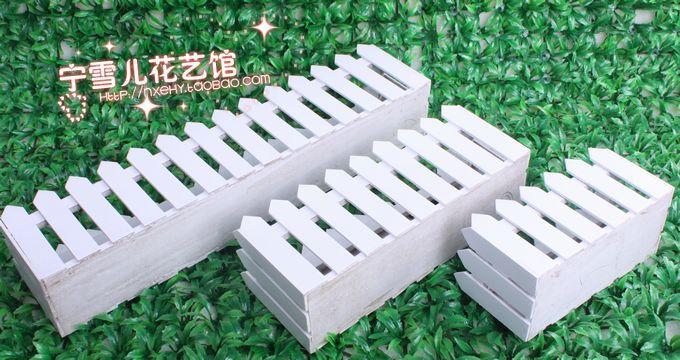 2015 Desktop decorativo caixa de flor artificial 20-30-50 cm branco - Decoração de casa - Foto 3