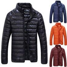 Сверхлегкий Моды для Мужчин Зимняя Куртка Повседневная Пальто Вниз Верхняя Одежда