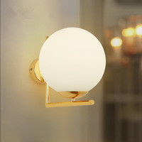 ART DECO wall lamp glass ball lights iron golden lighting led light fixture Dining room Bedroom wall lamp