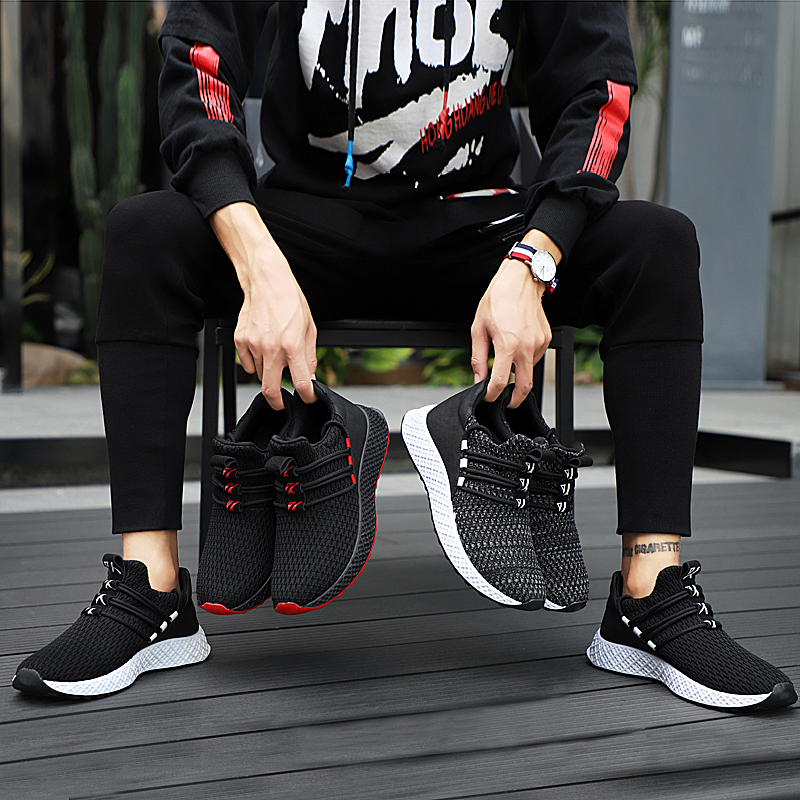 Male Breathable Comfortable Casual Shoes Fashion Men Canvas Shoes Lace up Wear-resistant Men Sneakers zapatillas deportiva 5