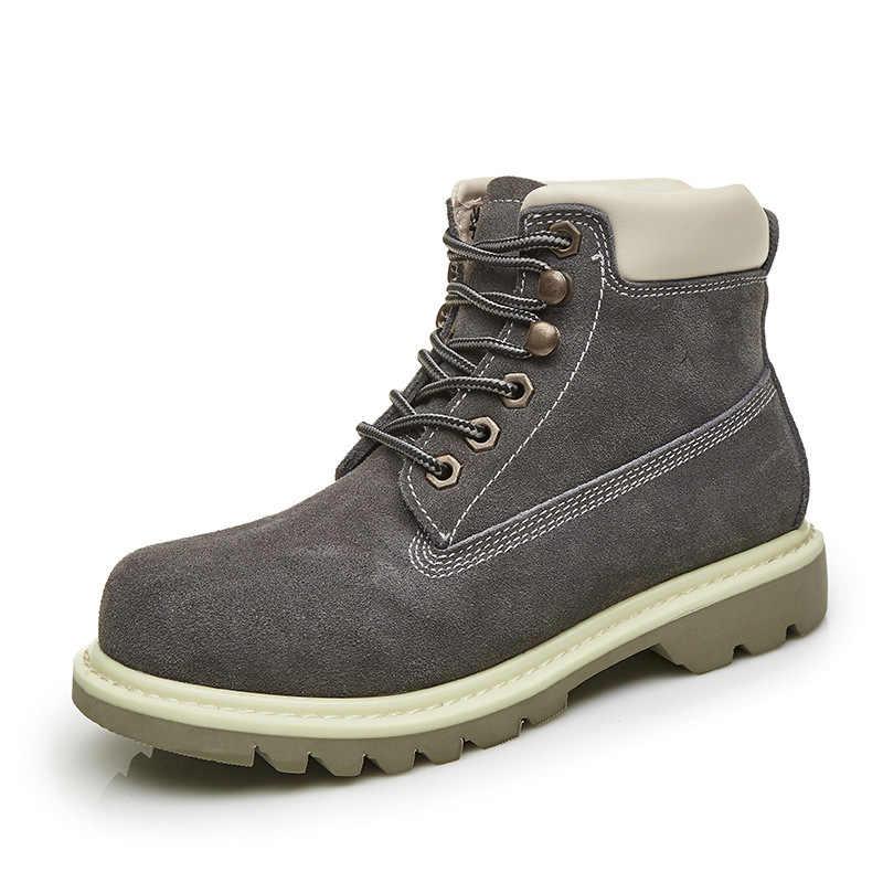 861c9e35d ... Модные Повседневное женские ботинки Мартенс обувь из натуральной кожи  Для женщин зимние ботинки круглый носок на ...
