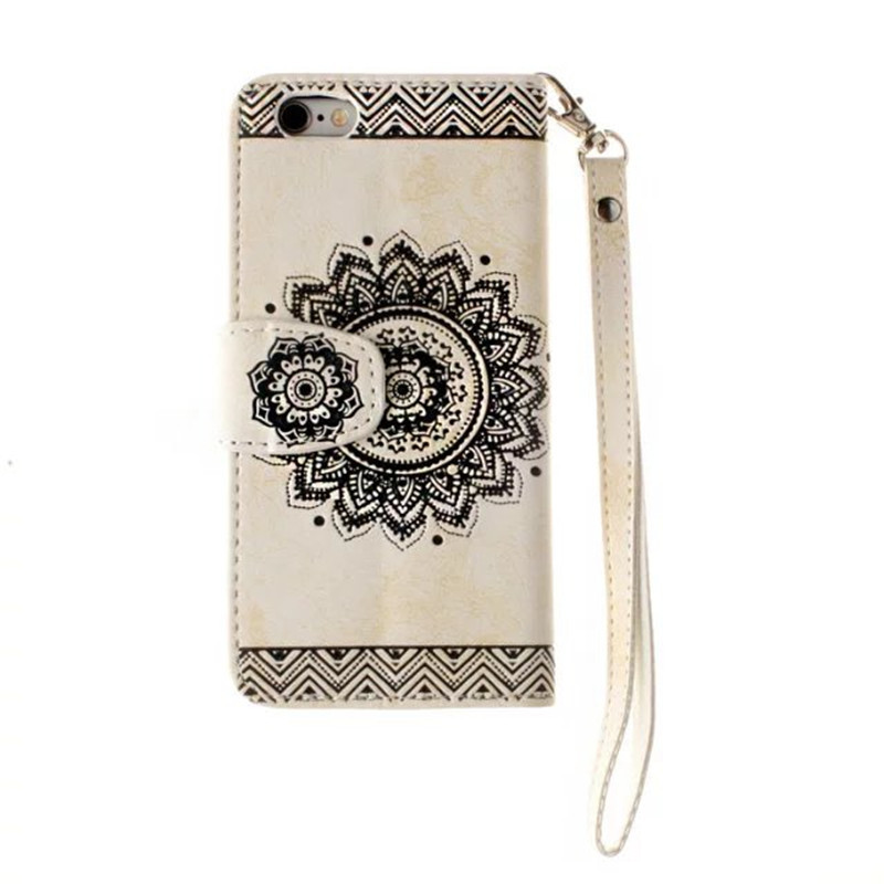 Mandala Leather Wallet for iPhone