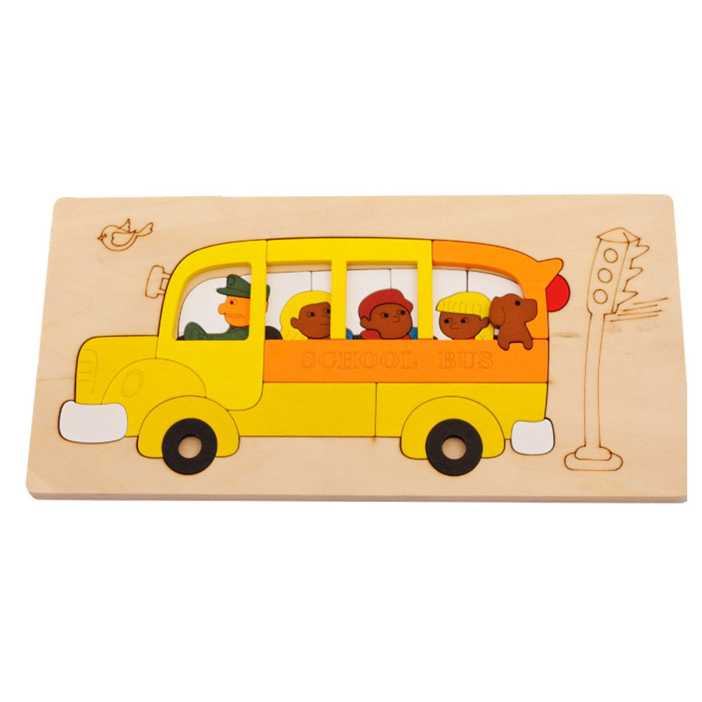 Bus Toys For Girls : Aliexpress buy multi layer wooden cartoon animal d