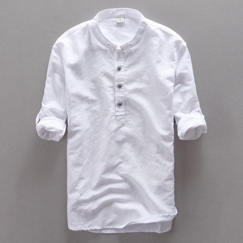 Italija Suhaiwe's blagovna znamka bombažna moška srajca z dolgimi - Moška oblačila - Fotografija 3